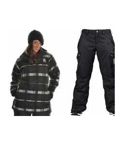 Bonfire Presto Jacket Black w/ Burton Fly Pants True Black/Dobby