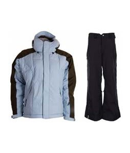 Bonfire Fusion Strobe Jacket Ocean/Leather w/ Bonfire Evolution Pants Black