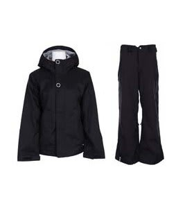 Bonfire Rainier Jacket Black w/ Bonfire Evolution Pants Black