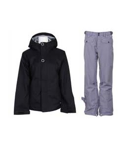 Bonfire Rainier Jacket Black w/ Foursquare Sammoff Pants Black Small Toof