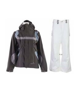 Bonfire Fusion Reflection Jacket Graphite/Ocean w/ Bonfire Evolution Pants Silk