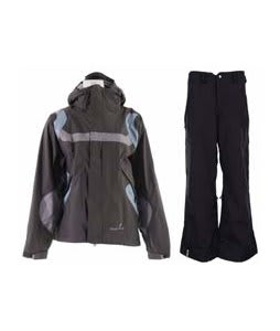 Bonfire Fusion Reflection Jacket Graphite/Ocean w/ Bonfire Evolution Pants Black