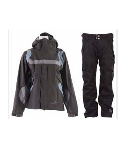 Bonfire Fusion Reflection Jacket Graphite/Ocean w/ Ride Highland Pants Black