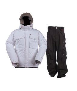 Foursquare Manfredi Jacket White w/ Foursquare Q Pants Black Hatch