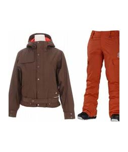 Burton After Hours Jacket Roasted Brown w/ Special Blend Major Pants Moulin Rouge