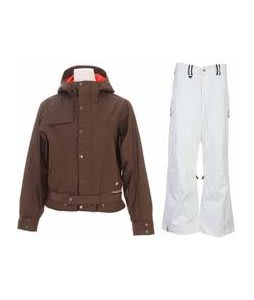 Burton After Hours Jacket Roasted Brown w/ Bonfire Evolution Pants Silk