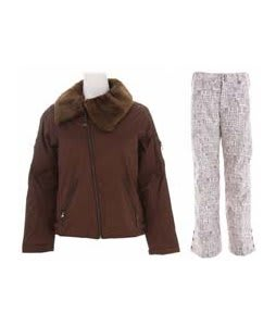 Burton B By Burton Roosevelt Bomber Jacket Roasted Brown w/ Burton Mighty Snowboard Pant Chestnut Paper Print