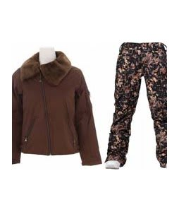 Burton B By Burton Roosevelt Bomber Jacket Roasted Brown w/ Burton Lucky Pants Digi Floral True Black