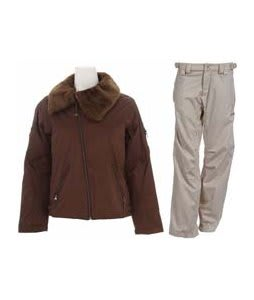 Burton B By Burton Roosevelt Bomber Jacket Roasted Brown w/ Foursquare Kim Pants Sandstone Hatch
