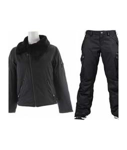 Burton B By Burton Roosevelt Bomber Jacket True Black w/ Burton Fly Pants True Black/Dobby