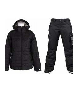 Burton Bliss Down Jacket True Black w/ Burton Fly Pants True Black/Dobby
