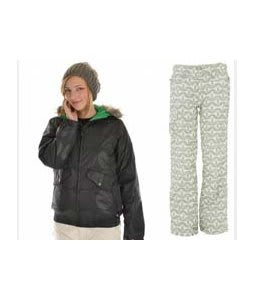 Burton Mp3 Commuter Jacket True Black Emboss w/ Foursquare Fuji Pants Rejuvenate Biggie Dots