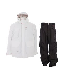 Foursquare PJ Jacket White w/ Foursquare Q Pants Black Hatch