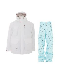 Foursquare PJ Jacket White w/ Foursquare Yeung Pants Keep Cool Leaf Grid