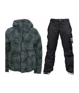 Burton Prep School Jacket Wasabi w/ Burton Fly Pants True Black/Dobby