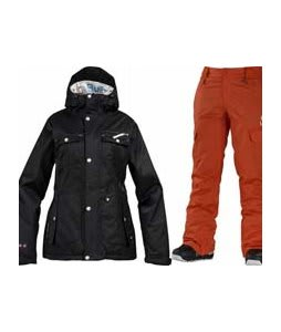Burton TWC Riding Jacket True Black w/ Special Blend Major Pants Moulin Rouge