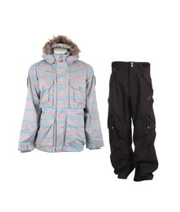Foursquare S2 Adams Jacket Athl Heather Stripe w/ Foursquare Q Pants Black Hatch