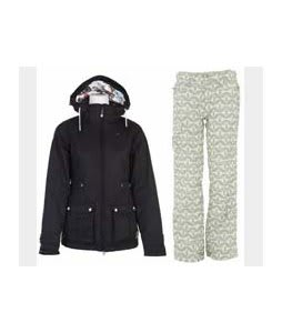 Burton TWC Puffy Jacket True Black w/ Foursquare Fuji Pants Rejuvenate Biggie Dots