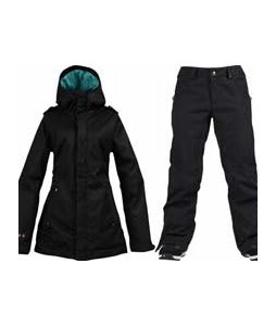 Burton TWC Weekend Jacket True Black w/ Burton Union Pants True Black