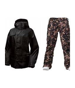 Burton After Hours Jacket True Black w/ Burton Lucky Pants Digi Floral True Black