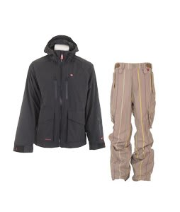 Foursquare Stevo Jacket Black w/ Foursquare Boswell Pants Tan A Poppin