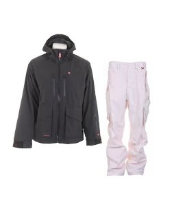 Foursquare Stevo Jacket Black w/ Foursquare Boswell Pants New Old Rip Grid