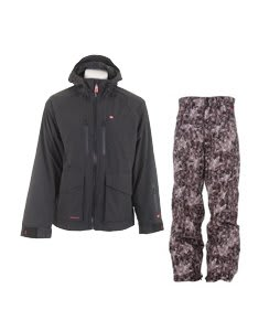 Foursquare Stevo Jacket Black w/ Foursquare Wong Pants Black Leaves