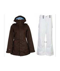 Burton TWC Weekend Jacket Mocha w/ Bonfire Evolution Pants Silk