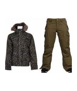 Burton Lush Jacket Capers Safari w/ Burton Fly Pants Capers