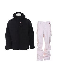 Foursquare Wright Jacket Black w/ Foursquare Boswell Pants New Old Rip Grid