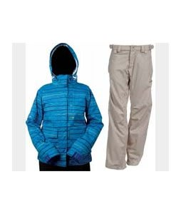 Foursquare Tevis Jacket Regatta Lil Stripes w/ Foursquare Kim Pants Sandstone Hatch