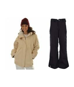 Roxy Tram Jacket Dandelion/White w/ Bonfire Evolution Pants Black