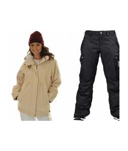 Roxy Tram Jacket Dandelion/White w/ Burton Fly Pants True Black/Dobby