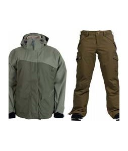 Sessions Siryn 4 in 1 Jacket Drab w/ Burton Fly Pants Capers