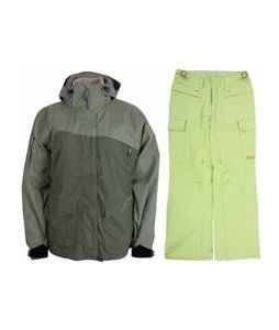 Sessions Siryn 4 in 1 Jacket Drab w/ Foursquare Newberry Pants Asparagus