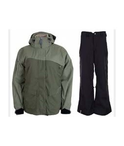 Sessions Siryn 4 in 1 Jacket Drab w/ Bonfire Evolution Pants Black
