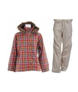 Sessions Spinner Jacket Pop Pink VI Plaid w/ Foursquare Kim Pants Sandstone Hatch