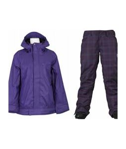 Vans Zissou Insulated Jacket Dp Wister w/ Burton Society Pants Mulberry Line Plaid