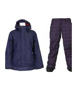 Vans Zissou Insulated Jacket Peacoat w/ Burton Society Pants Mulberry Line Plaid