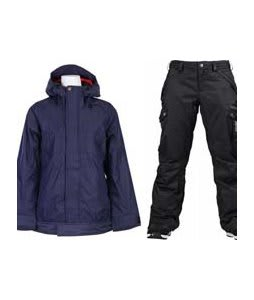 Vans Zissou Insulated Jacket Peacoat w/ Burton Fly Pants True Black/Dobby