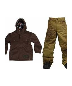 Burton Entourage Jacket Mocha w/ Burton Standard Snow Pants Mocha Geoflip