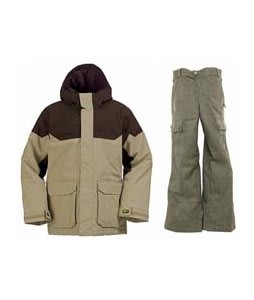 Burton Element Insulated Jacket Burlap w/ Burton Cargo Smalls Pants Burlap