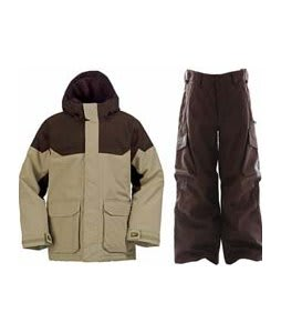 Burton Element Insulated Jacket Burlap w/ Burton Cargo Snow Pants Mocha
