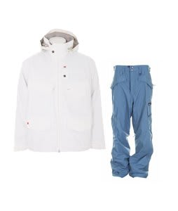 Foursquare Wright Jacket White w/ Special Blend C3 Division Pants Memento