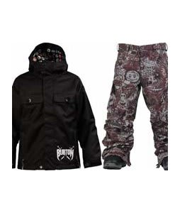 Burton Entourage Jacket True Black w/ Burton Cargo Snow Pants Gunmetal Opti 3D