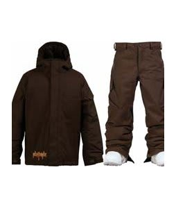 Burton Ripper Jacket Mocha w/ Burton Cargo Snow Pants Mocha