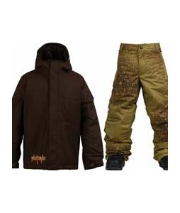 Burton Ripper Jacket Mocha w/ Burton Standard Snow Pants Mocha Geoflip