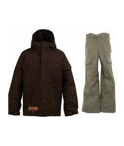 Burton Ripper Jacket Mocha w/ Burton Cargo Smalls Pants Burlap