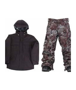 Ride Hemi Youth Jacket Black w/ Burton Cargo Snow Pants Gunmetal Opti 3D
