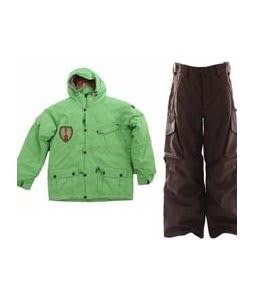 Sessions Magneto Jacket Lime w/ Burton Cargo Snow Pants Mocha